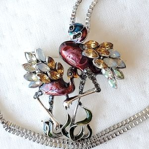 Betsey Johnson flamingo necklace